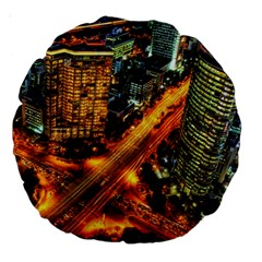 Hdri City Large 18  Premium Round Cushions