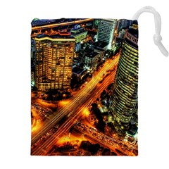Hdri City Drawstring Pouches (xxl) by BangZart