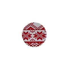 Crimson Knitting Pattern Background Vector 1  Mini Buttons by BangZart