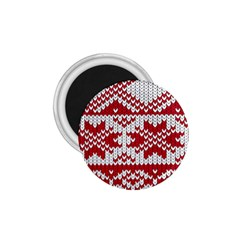 Crimson Knitting Pattern Background Vector 1 75  Magnets by BangZart