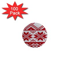 Crimson Knitting Pattern Background Vector 1  Mini Magnets (100 Pack)  by BangZart