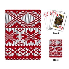 Crimson Knitting Pattern Background Vector Playing Card by BangZart