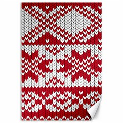 Crimson Knitting Pattern Background Vector Canvas 12  X 18   by BangZart