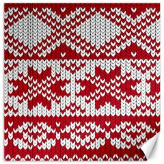 Crimson Knitting Pattern Background Vector Canvas 20  X 20