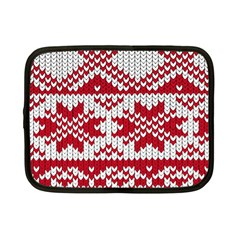 Crimson Knitting Pattern Background Vector Netbook Case (small)