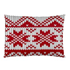 Crimson Knitting Pattern Background Vector Pillow Case