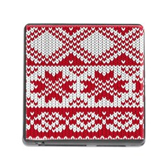 Crimson Knitting Pattern Background Vector Memory Card Reader (square) by BangZart