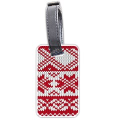 Crimson Knitting Pattern Background Vector Luggage Tags (two Sides) by BangZart