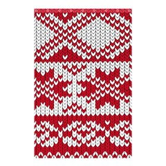Crimson Knitting Pattern Background Vector Shower Curtain 48  X 72  (small)  by BangZart
