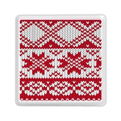 Crimson Knitting Pattern Background Vector Memory Card Reader (square)