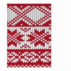 Crimson Knitting Pattern Background Vector Small Garden Flag (two Sides)