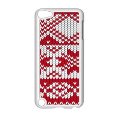 Crimson Knitting Pattern Background Vector Apple Ipod Touch 5 Case (white)