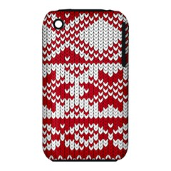 Crimson Knitting Pattern Background Vector Iphone 3s/3gs by BangZart