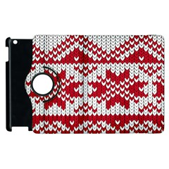 Crimson Knitting Pattern Background Vector Apple Ipad 2 Flip 360 Case