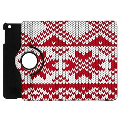 Crimson Knitting Pattern Background Vector Apple Ipad Mini Flip 360 Case