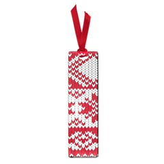 Crimson Knitting Pattern Background Vector Small Book Marks