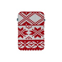Crimson Knitting Pattern Background Vector Apple Ipad Mini Protective Soft Cases by BangZart