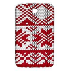 Crimson Knitting Pattern Background Vector Samsung Galaxy Tab 3 (7 ) P3200 Hardshell Case