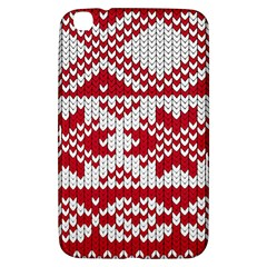 Crimson Knitting Pattern Background Vector Samsung Galaxy Tab 3 (8 ) T3100 Hardshell Case