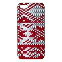 Crimson Knitting Pattern Background Vector Iphone 5s/ Se Premium Hardshell Case