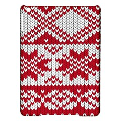 Crimson Knitting Pattern Background Vector Ipad Air Hardshell Cases