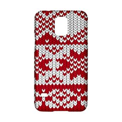 Crimson Knitting Pattern Background Vector Samsung Galaxy S5 Hardshell Case  by BangZart