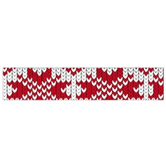 Crimson Knitting Pattern Background Vector Flano Scarf (small)