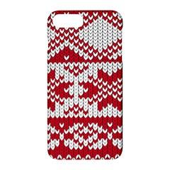 Crimson Knitting Pattern Background Vector Apple Iphone 7 Plus Hardshell Case