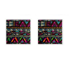 Cute Hipster Elephant Backgrounds Cufflinks (square) by BangZart