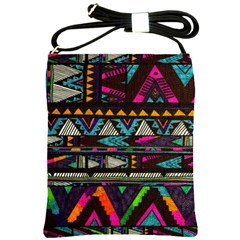Cute Hipster Elephant Backgrounds Shoulder Sling Bags by BangZart