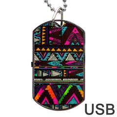 Cute Hipster Elephant Backgrounds Dog Tag Usb Flash (two Sides) by BangZart