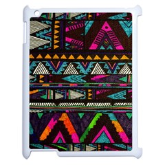 Cute Hipster Elephant Backgrounds Apple Ipad 2 Case (white)