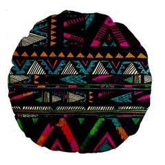 Cute Hipster Elephant Backgrounds Large 18  Premium Round Cushions