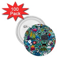 Comics 1 75  Buttons (100 Pack)  by BangZart