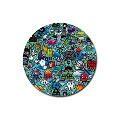 Comics Rubber Round Coaster (4 Pack)