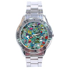Comics Stainless Steel Analogue Watch by BangZart