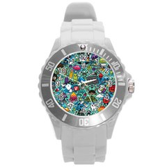Comics Round Plastic Sport Watch (l) by BangZart