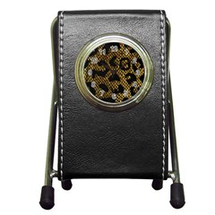 Metallic Snake Skin Pattern Pen Holder Desk Clocks by BangZart