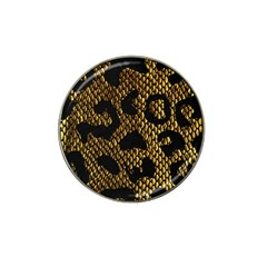 Metallic Snake Skin Pattern Hat Clip Ball Marker (4 Pack)
