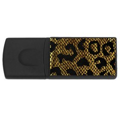 Metallic Snake Skin Pattern Usb Flash Drive Rectangular (4 Gb)