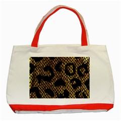 Metallic Snake Skin Pattern Classic Tote Bag (red)