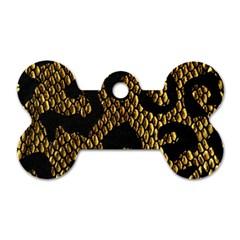 Metallic Snake Skin Pattern Dog Tag Bone (one Side) by BangZart