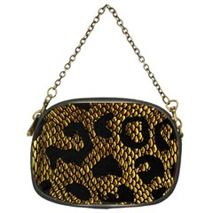 Metallic Snake Skin Pattern Chain Purses (one Side)