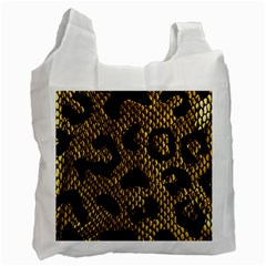 Metallic Snake Skin Pattern Recycle Bag (two Side)