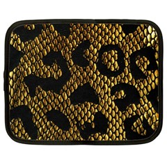 Metallic Snake Skin Pattern Netbook Case (xl)
