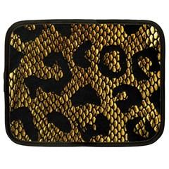 Metallic Snake Skin Pattern Netbook Case (xxl)