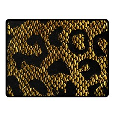 Metallic Snake Skin Pattern Fleece Blanket (small)