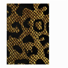 Metallic Snake Skin Pattern Small Garden Flag (two Sides) by BangZart