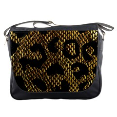Metallic Snake Skin Pattern Messenger Bags by BangZart