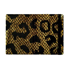 Metallic Snake Skin Pattern Apple Ipad Mini Flip Case by BangZart